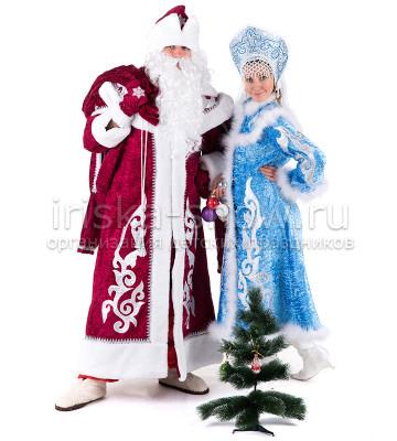 Дед Мороз и Снегурочка (красный)